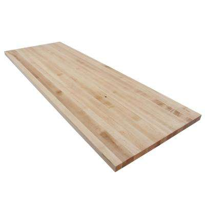 6 ft. L x 2 ft. 1 in. D x 1.5 in. T Butcher Block Countertop in Finished Maple