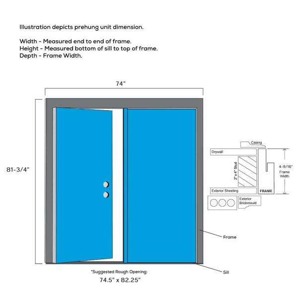 Mmi Door 72 In X 80 In Shaker Left Hand Inswing 3 Lite Clear Low E Painted Fiberglass Smooth Prehung Front Door With Shelf Z028092l The Home Depot