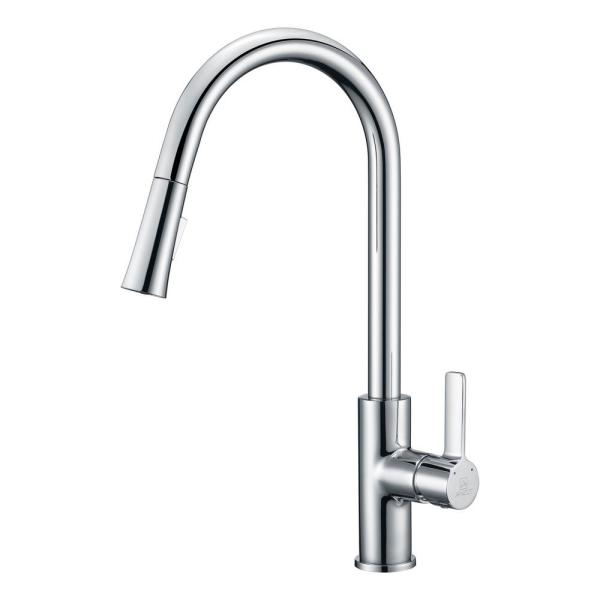 Serena Single-Handle Pull-Down Sprayer Kitchen Faucet in Polished Chrome