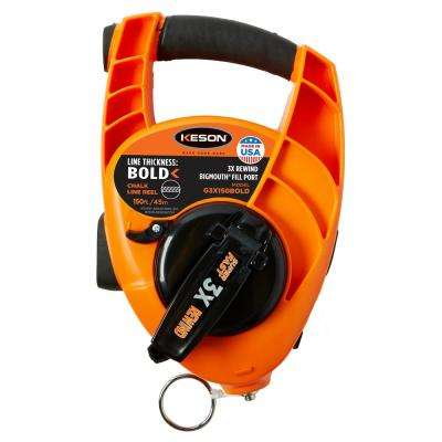 150 ft. Giant Chalk Line Reel, 3x1 Rewind, Bold Line