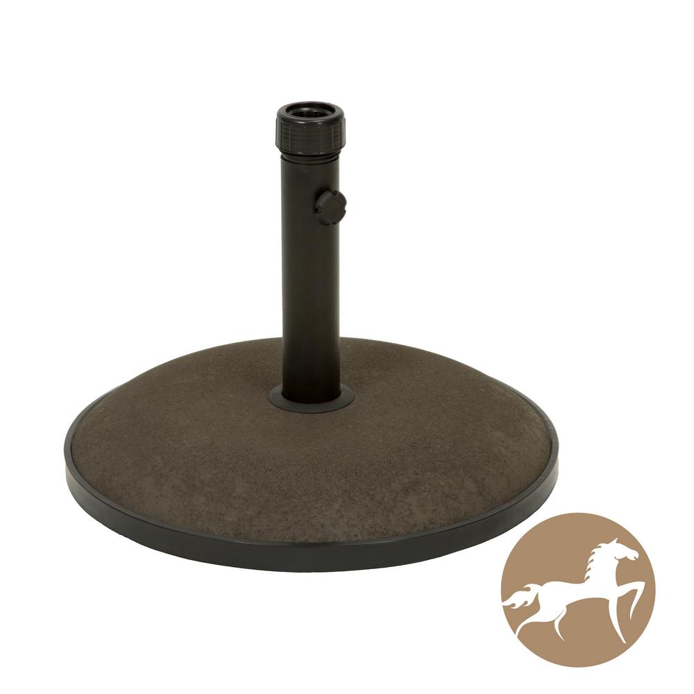 55 lbs. Spike Concrete Patio Umbrella Base in Brown