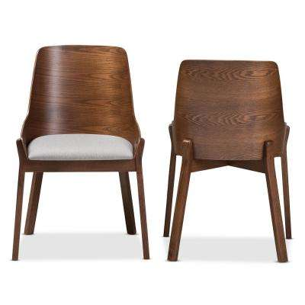 Rye Light Grey Fabric Dining Chair (Set of 2)