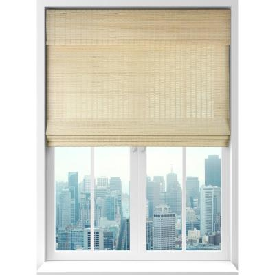 Seaside Natural Cordless Light-Filtering Bamboo Woven Roman Shade 36 in. W x 60 in. L