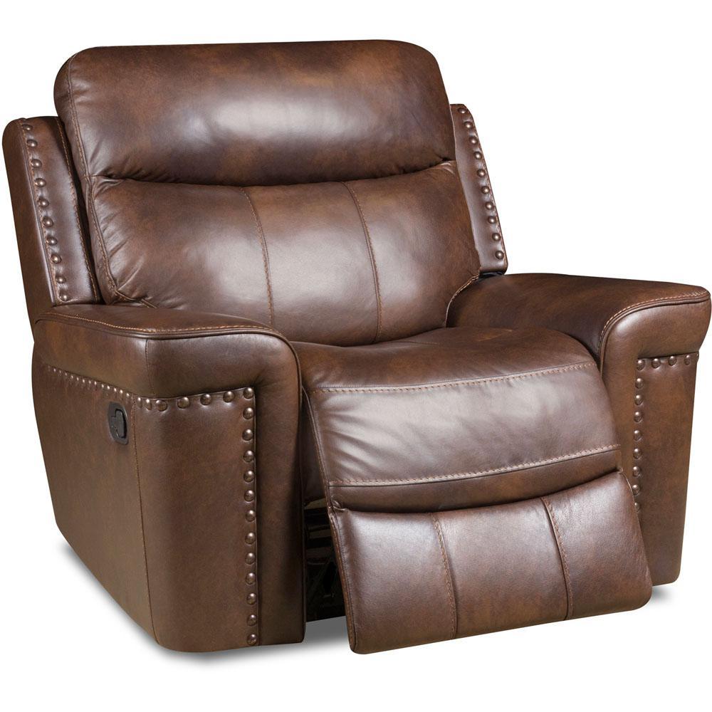 Best Kelvin For Living Room: HomeSullivan Kelvington Chocolate Leather Sofa-409616BRW-3