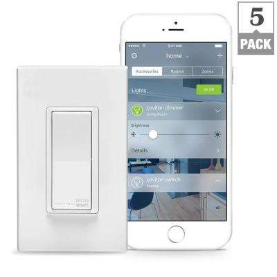 15 Amp Decora Smart with HomeKit Technology Switch, Works with Siri (5-Pack)