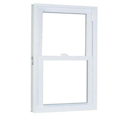 31.75 in. x 65.25 in. 70 Series Pro Double Hung White Vinyl Window with Buck Frame