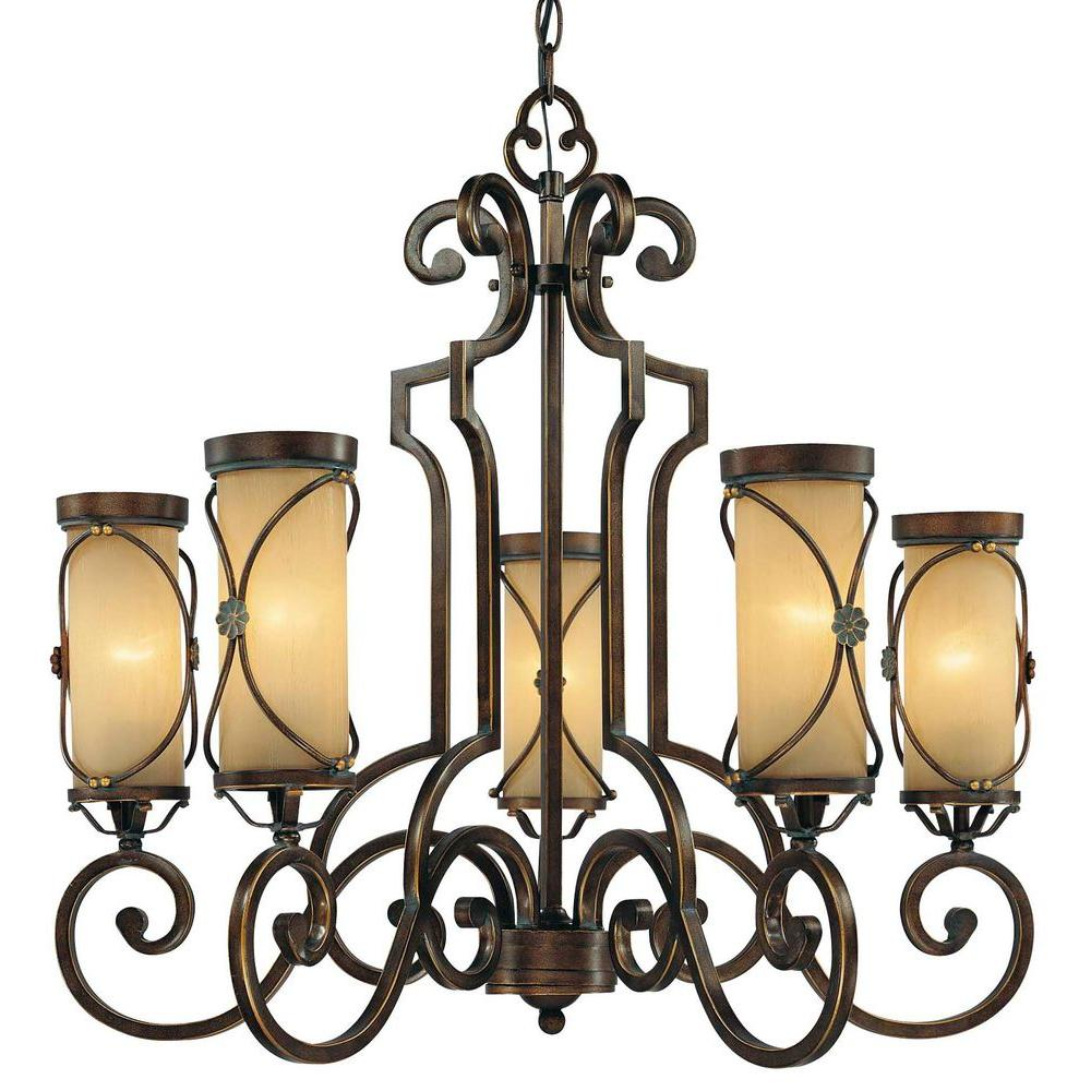 Minka Lavery Atterbury 5-Light Deep Flax Bronze Chandelier