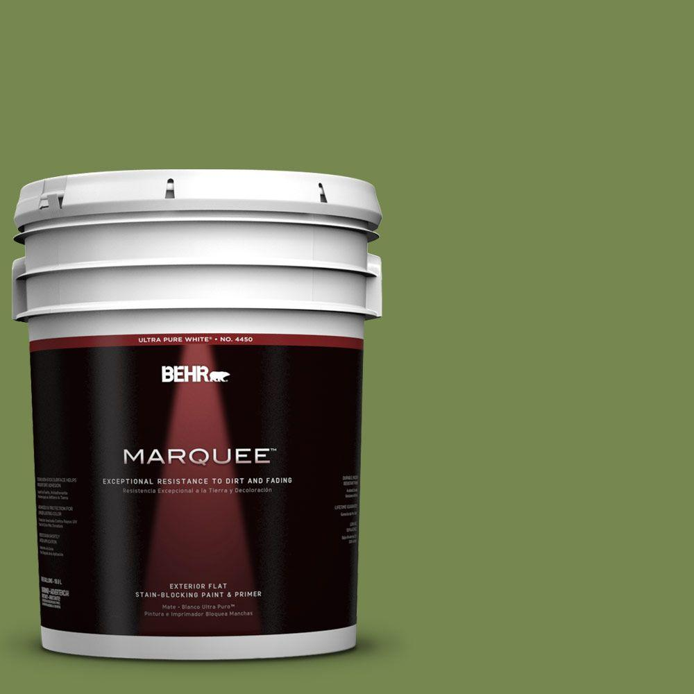 BEHR MARQUEE 5-gal. #HDC-SM14-2 Green Suede Flat Exterior Paint