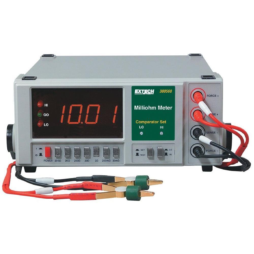 Extech Instruments 4-Wire 110 VAC Digital Milliohm Meter