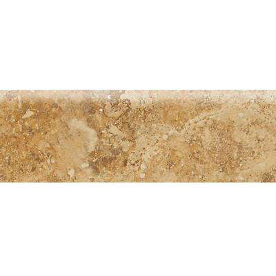 Heathland Amber 3 in. x 9 in. Glazed Ceramic Bullnose Wall Tile