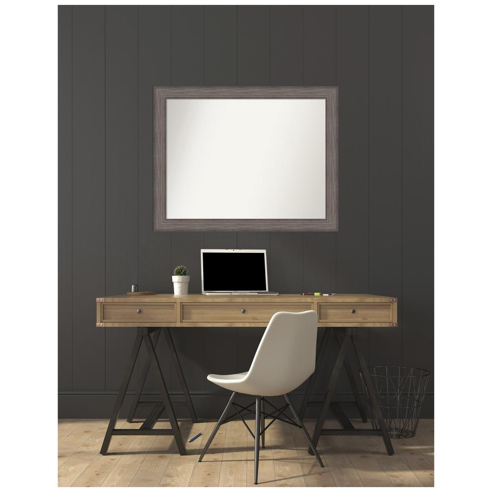 Amanti Art Custom Size 42.25 in. x 33.25 in. Country Barnwood Decorative Wall Mirror was $439.95 now $264.84 (40.0% off)