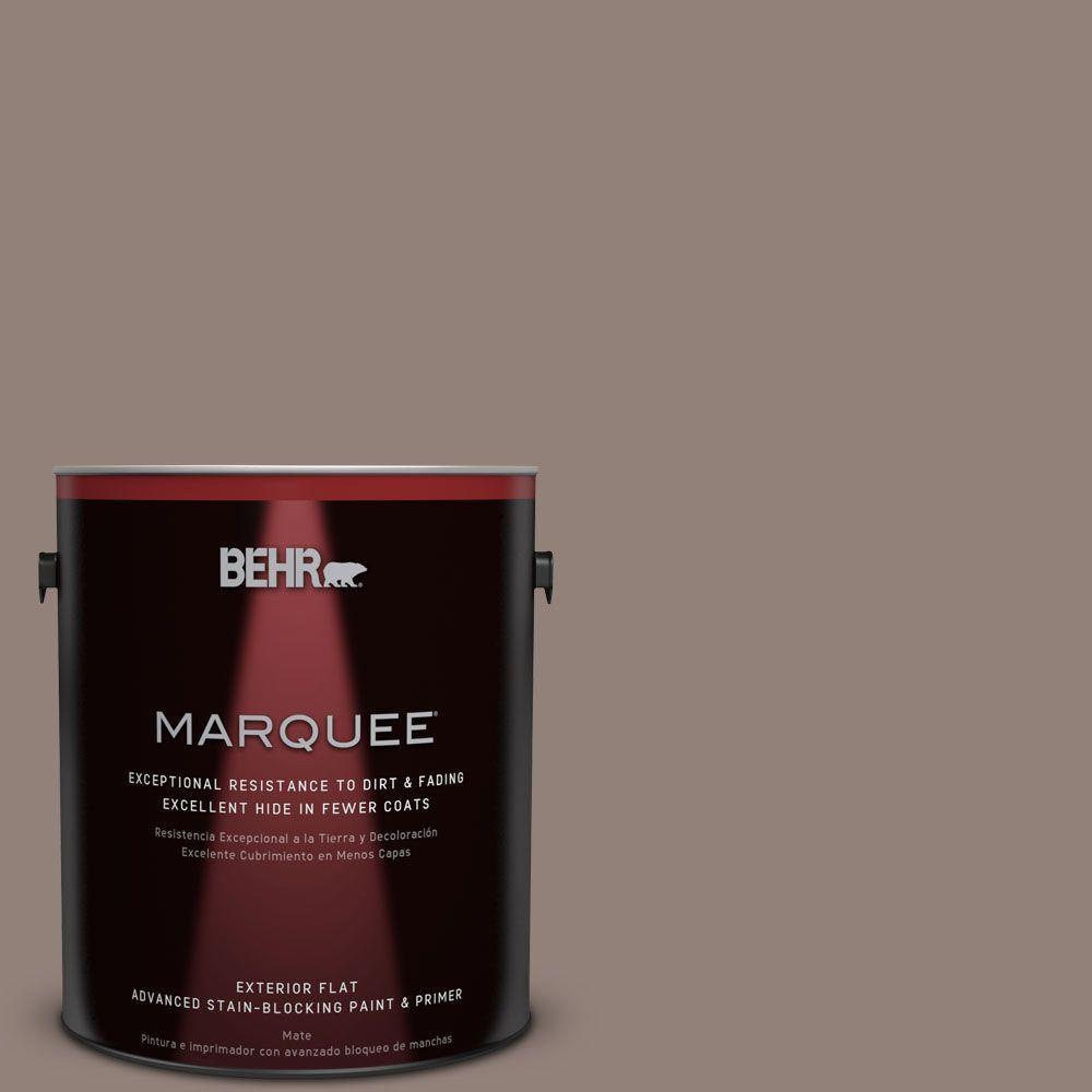BEHR MARQUEE 1-gal. #BNC-22 Chocolate Chiffon Flat Exterior Paint