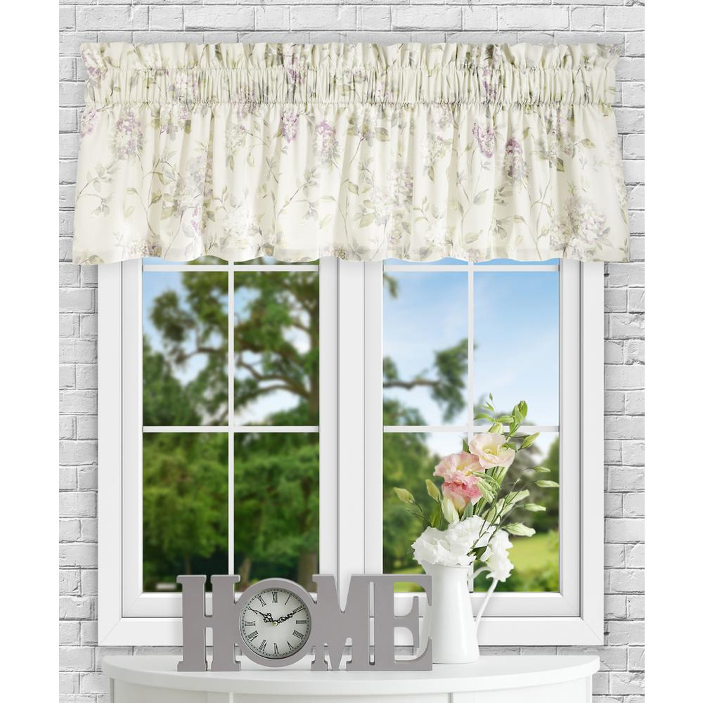 Ellis Curtain Abigail 15 in. L Polyester/Cotton Tailored Valance in Lilac