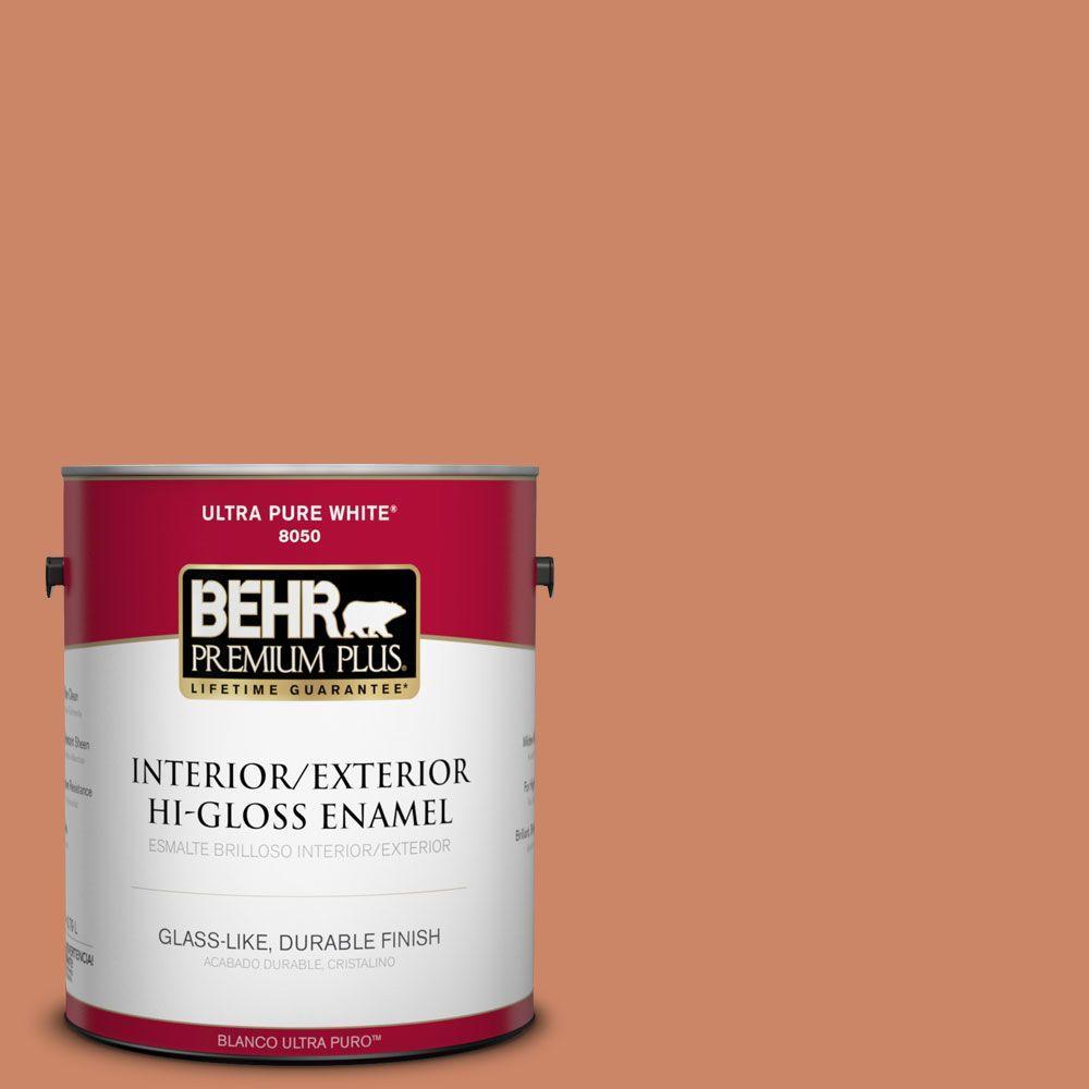 BEHR Premium Plus 1-gal. #230D-5 Aztec Brick Hi-Gloss Enamel Interior/Exterior Paint