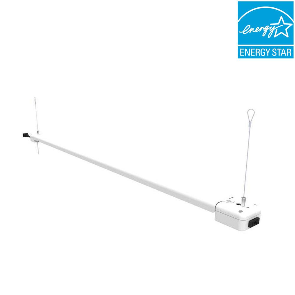 Commercial Electric 4 Ft 1 Lamp 30 Watt White Integrated