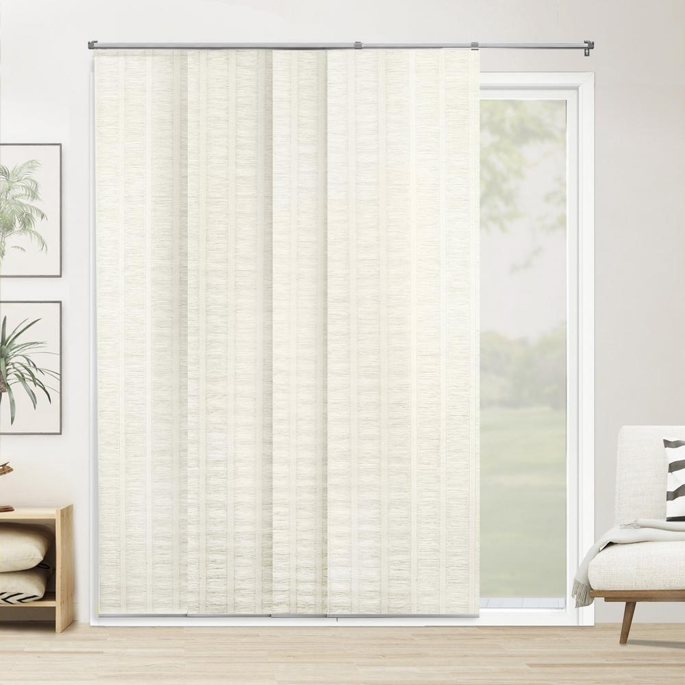 Chicology Panel Track Blinds Seaside White Polyester Cordless