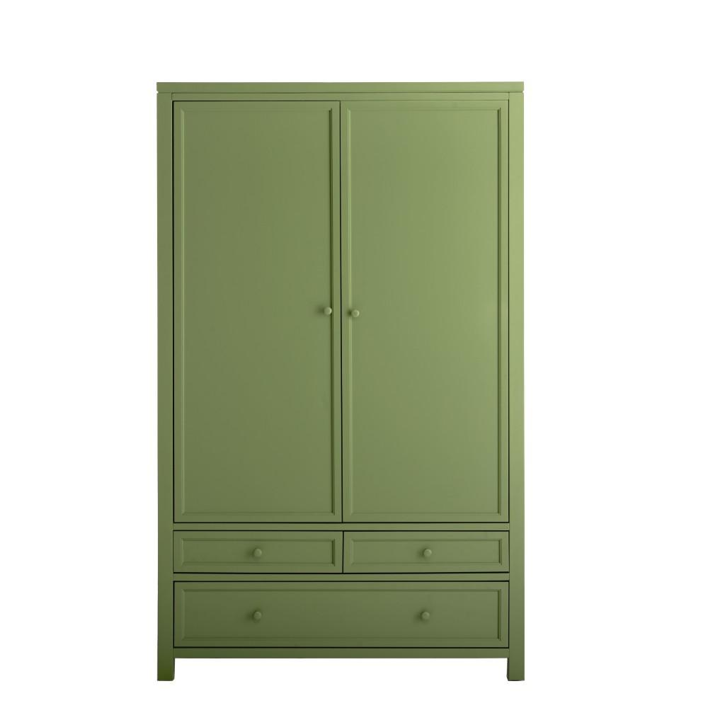 MarthaStewartLiving Martha Stewart Living Craft Space Rhododendron Leaf Green Craft Hutch with 2 Doors and 9 Drawers (72 in. H x 42 in. W x 22 in. D)