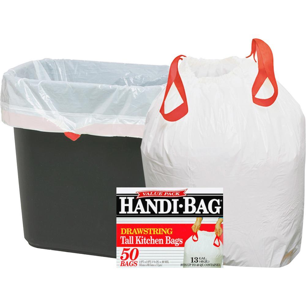 Webster 13 Gal Drawstring Trash Bags 50 Per Box