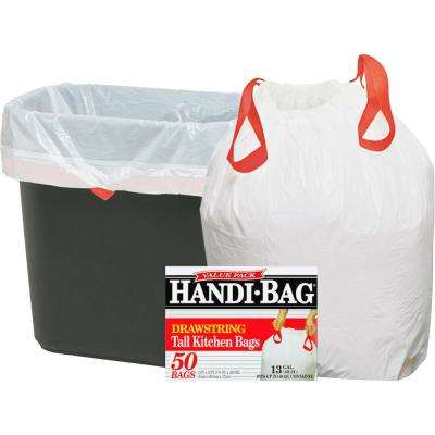 13 Gal. Drawstring Trash Bags (50 Per Box)