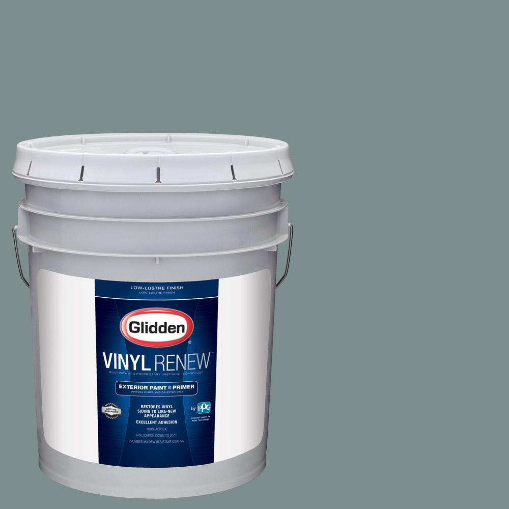 glidden vinyl renew 5 gal hdgcn21u greyed teal green low lustre exterior paint with primer. Black Bedroom Furniture Sets. Home Design Ideas