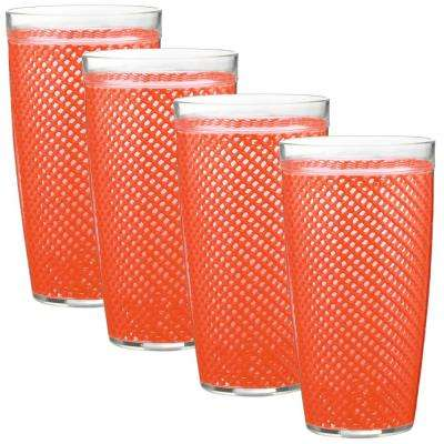 Fishnet 22 oz. Peach Echo Insulated Drinkware (Set of 4)