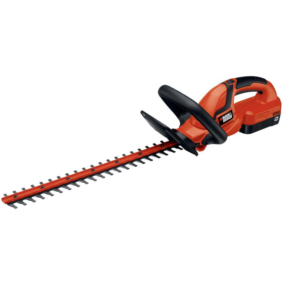 BLACK+DECKER 22 in. 18-Volt Ni-Cad Cordless Hedge Trimmer with 1.5Ah Battery and Charger Included