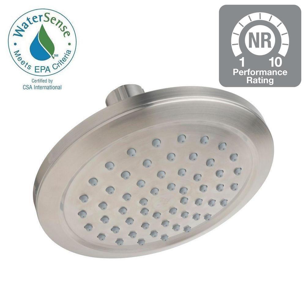 Bramwell 1-Spray 5.9 in. Showerhead in Satin Nickel