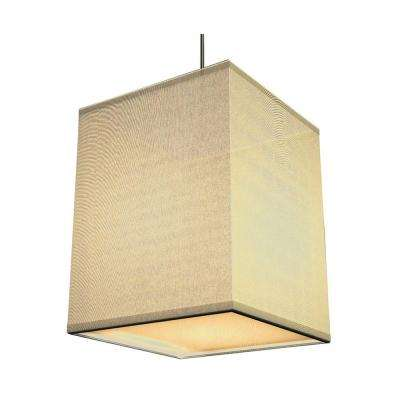 Baker 1-Light Cream Shade Hanging Pendant