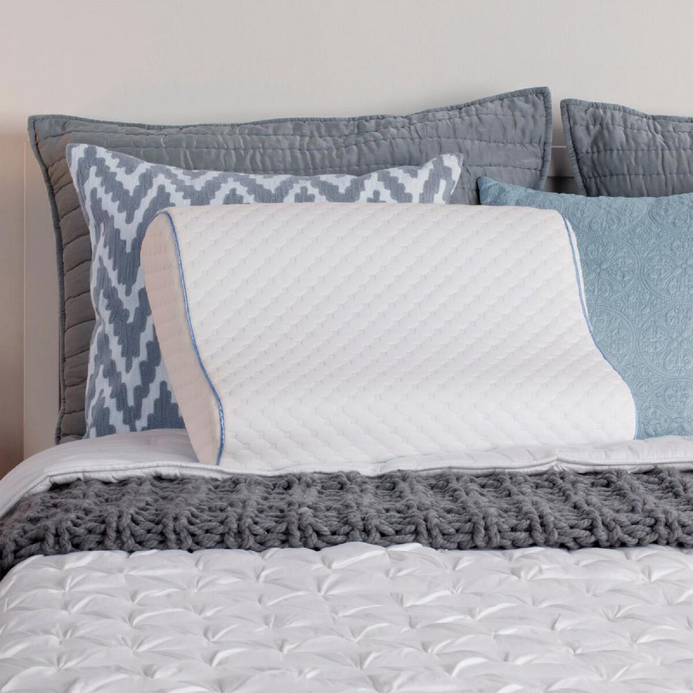 Tempur Pedic Traditional Pillow Medium : Tempur-Pedic Traditonal Standard Foam Medium Bed Pillow-15420715 - The Home Depot