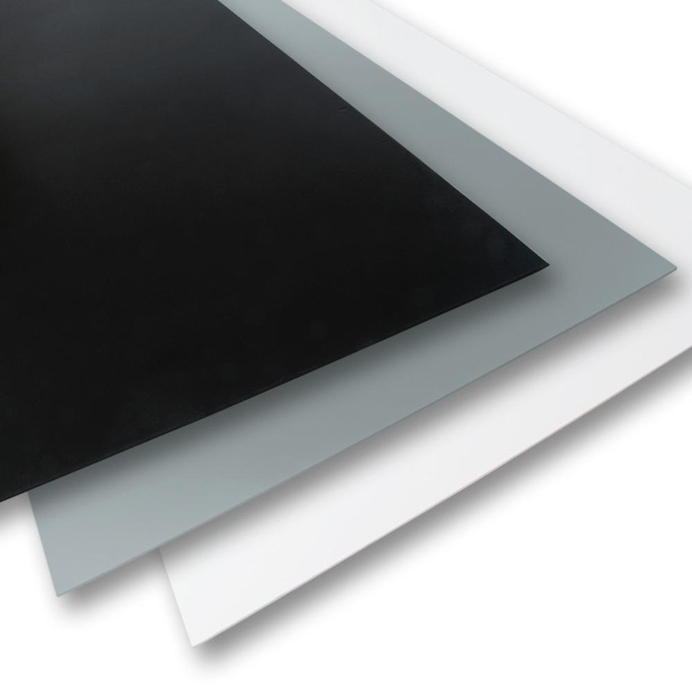 Palight Projectpvc 24 In X 24 In X 0 236 In Black Grey