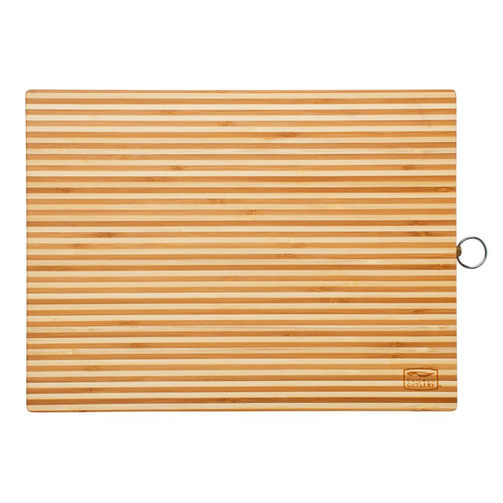 Woodworks Bamboo Two Tone 16 in. x 12 in. Cutting Board