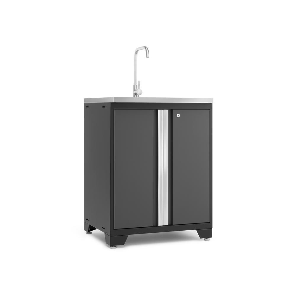 Outdoor Sinks And Cabinets: Husky 72 In. H X 46 In. W X 24 In. D Welded Steel Floor