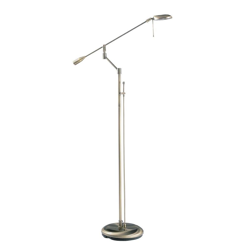 Filament Design Cassiopeia 71 in. Antique Brass Floor Lamp