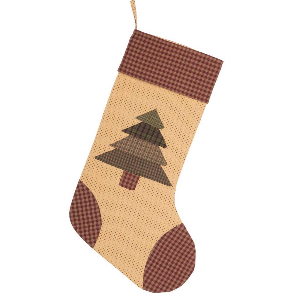 20 in. Cotton Sequoia Creme White Rustic Christmas Decor Stocking