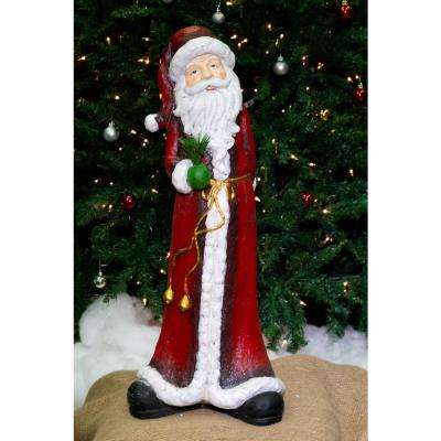 27 in. Christmas Tall Skinny Santa Statuary