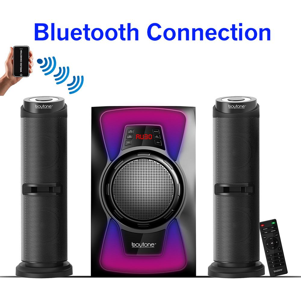 BT-428F 2.1 Wireless Bluetooth 50-Watt Speakers