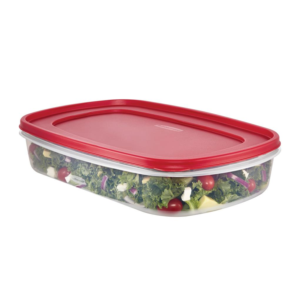 Rubbermaid 15 Gal Easy Find Lids Rectangular Bowl 1777163 The