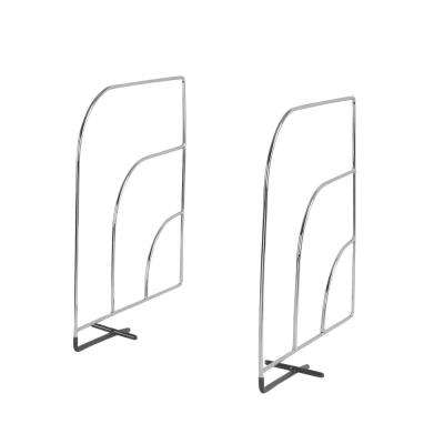 Steel Chrome Large Over-the-Shelf Dividers (2-Pack/Pair)