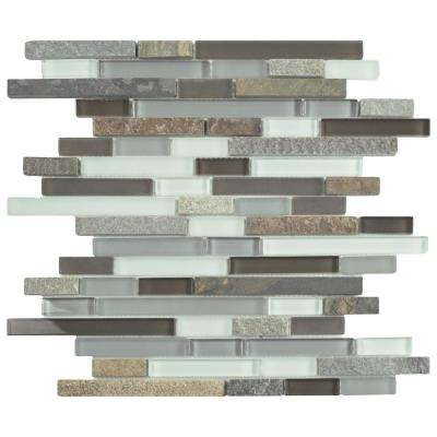 Tessera Piano Tundra 11-3/4 in. x 11-7/8 in. x 8 mm Glass and Stone Mosaic Tile
