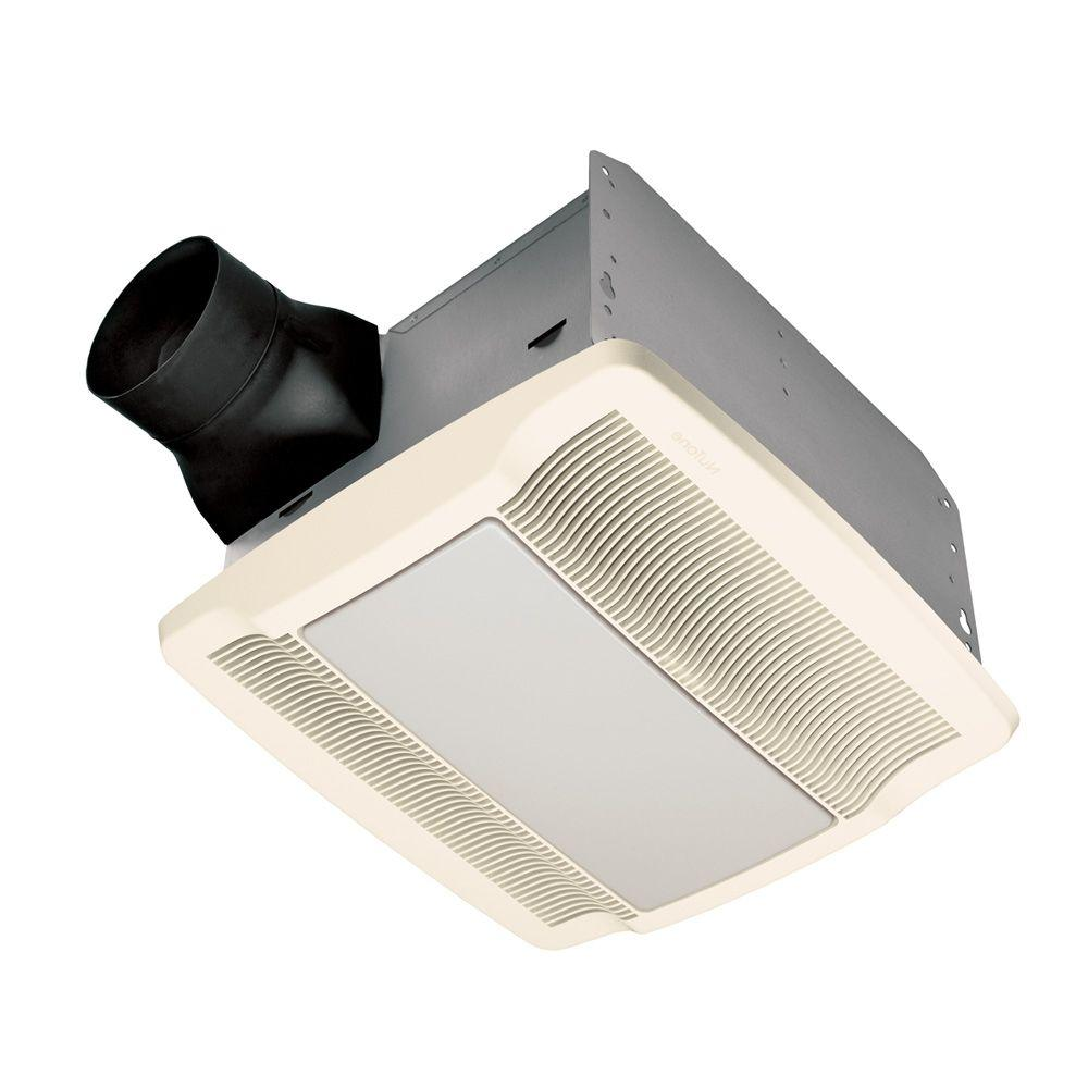 Broan Nutone Qtr Series Quiet 110 Cfm Ceiling Exhaust Bath Fan With Light And Night Light Energy Star Qualified Qtren110flt The Home Depot