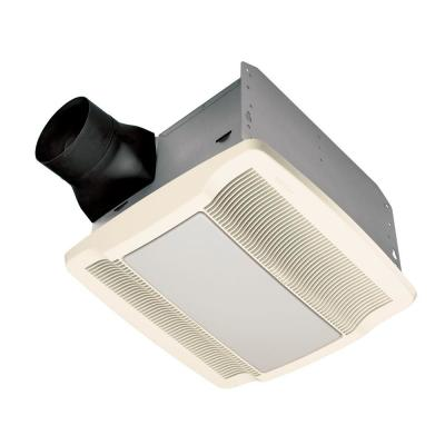 QTR Series Quiet 110 CFM Ceiling Exhaust Bath Fan with Light and Night Light, ENERGY STAR Qualified