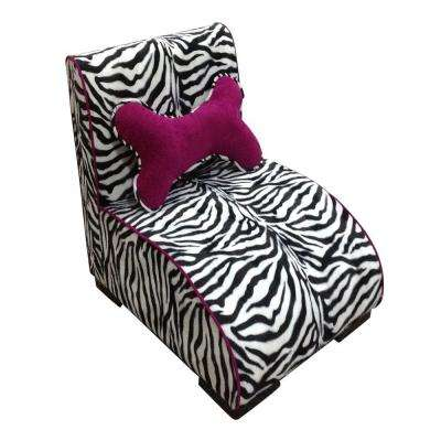 22.75 in. H Zebra Lounge Upholstered Pet Furniture