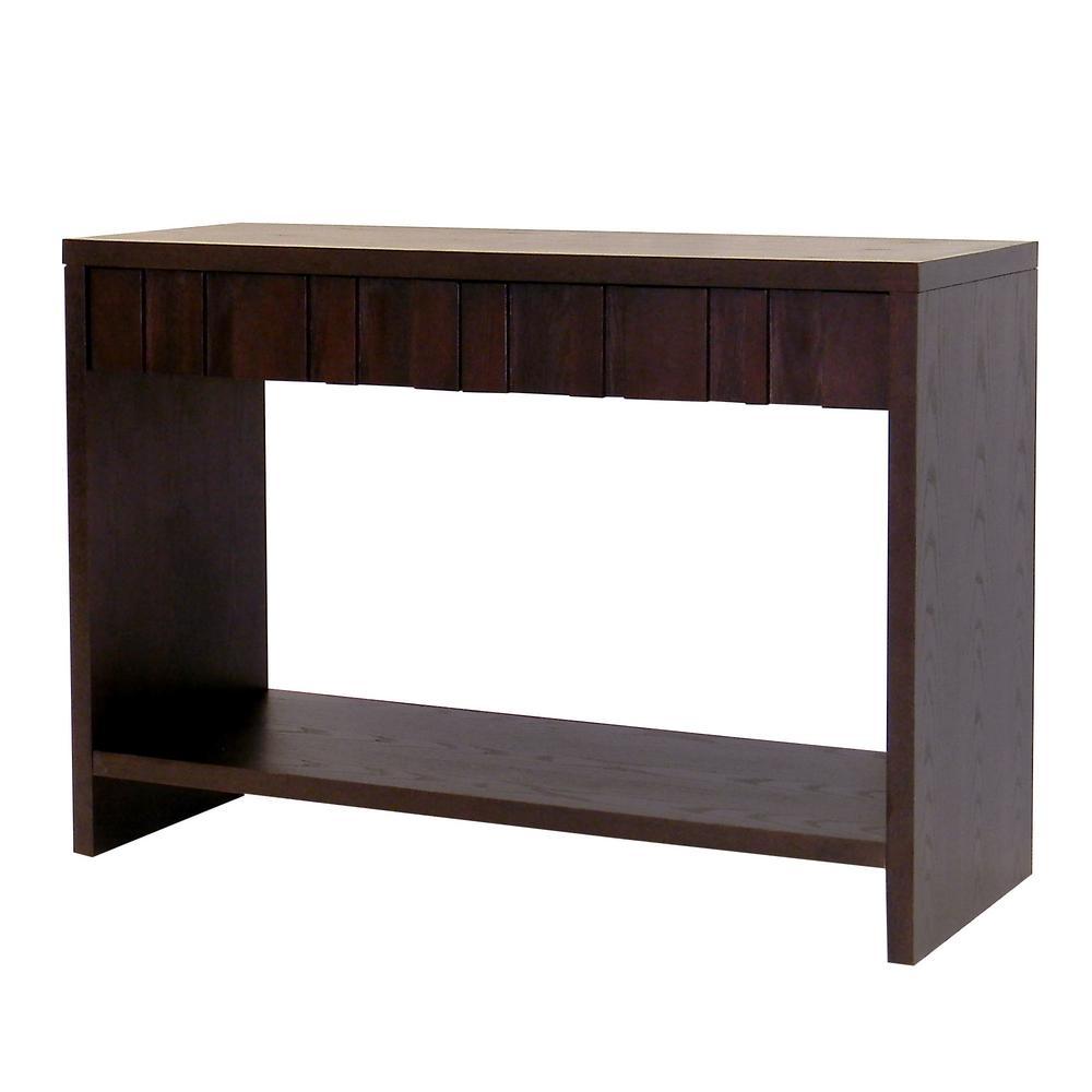 Conrad Dark Birch Storage Console Table