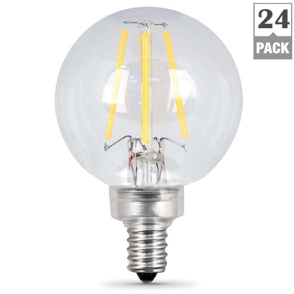 Led Candelabra Light Bulbs: Feit Electric 60W Equivalent Soft White G16.5 Dimmable