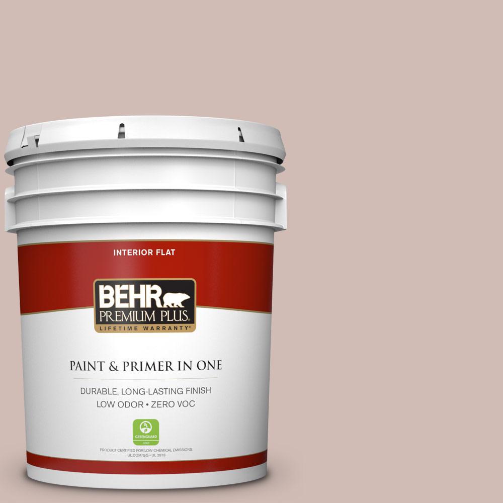 BEHR Premium Plus 5-gal. #N150-2 Smokey Pink Flat Interior Paint