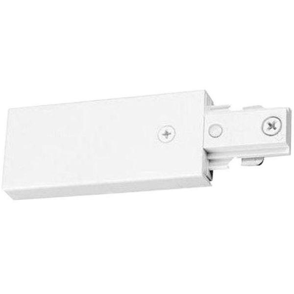 Trac-Lites White End Feed Connector