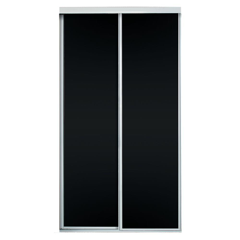 72 in. x 81 in. Concord Chalkboard Panels with White Aluminum