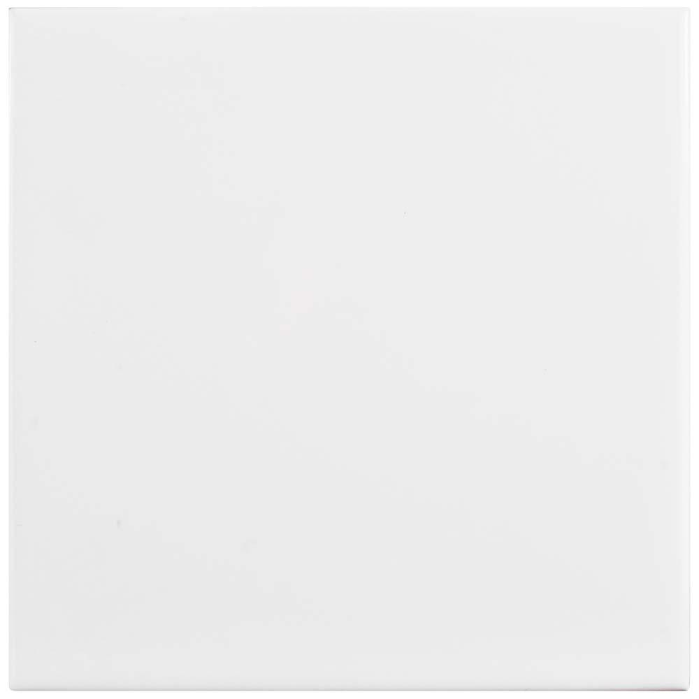 Merola Tile Park Slope Glossy White 6 in. x 6 in. Ceramic Wall Tile (11.94 sq. ft. / case)