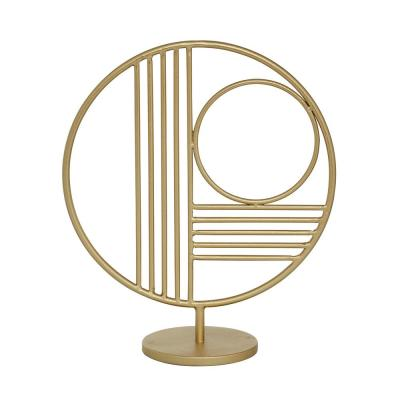 Round Gold Metal Modern Table Decor, 11 in. x 14 in.