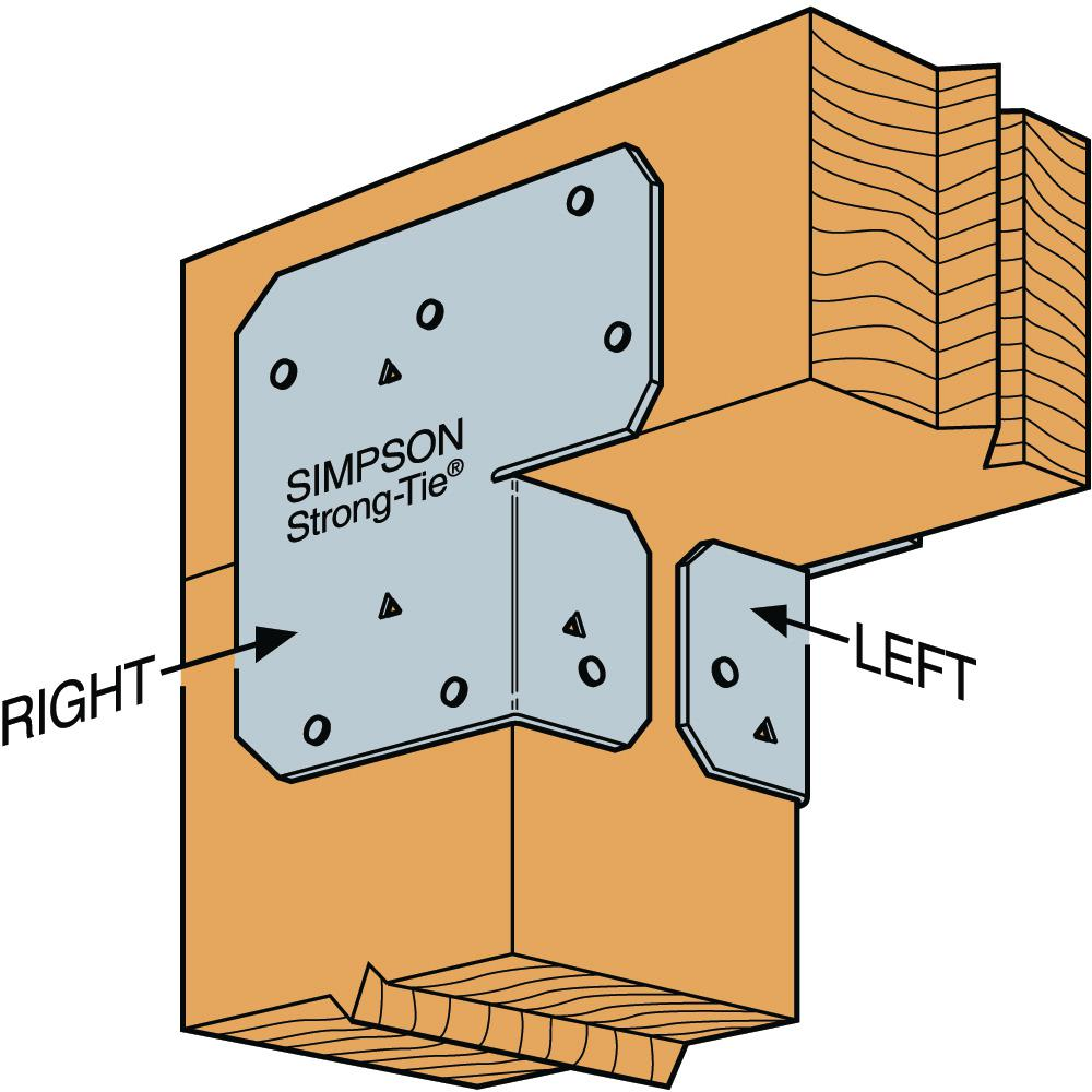 Set of 2 Simpson Strong-Tie ACE6 Adjustable Post Cap End Cap Galvanized